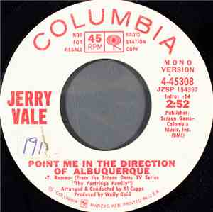 Jerry Vale - Point Me In The Direction Of Albuquerque